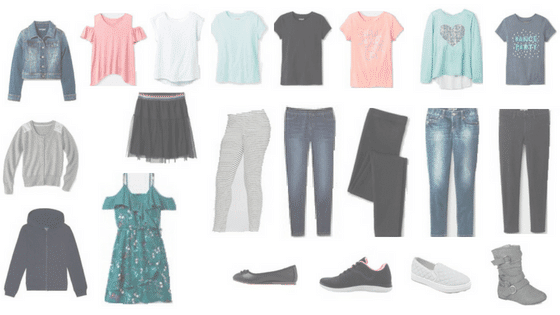 Stylish 2019 Back-to-School Girls Capsule Wardrobe